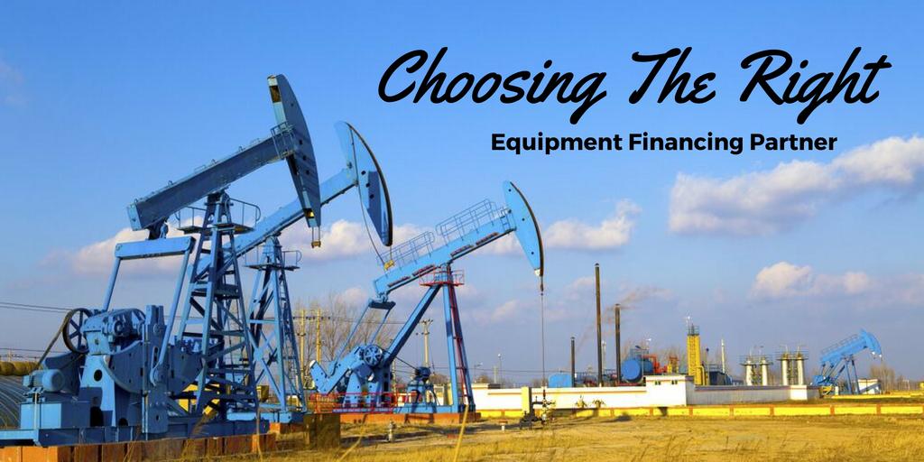 Choosing The Right Equipment Financing Partner